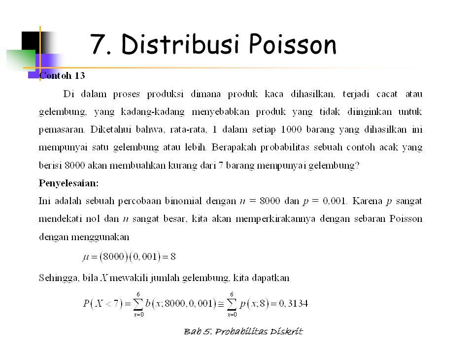 Bab 5. Probabilitas Diskrit 7. Distribusi Poisson