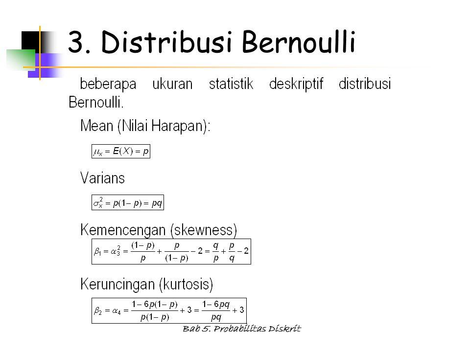 Bab 5. Probabilitas Diskrit 3. Distribusi Bernoulli