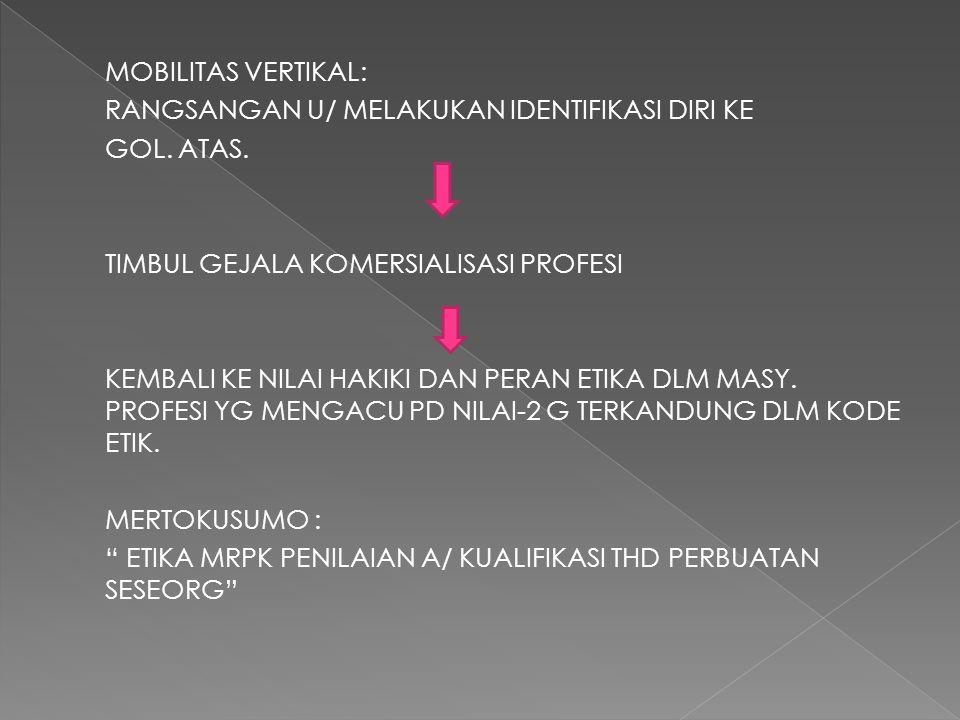 MOBILITAS VERTIKAL: RANGSANGAN U/ MELAKUKAN IDENTIFIKASI DIRI KE GOL.