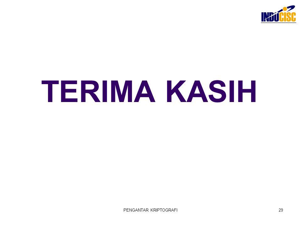 TERIMA KASIH PENGANTAR KRIPTOGRAFI29