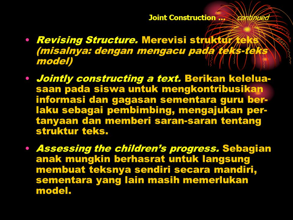 Joint Construction … continued Revising Structure.