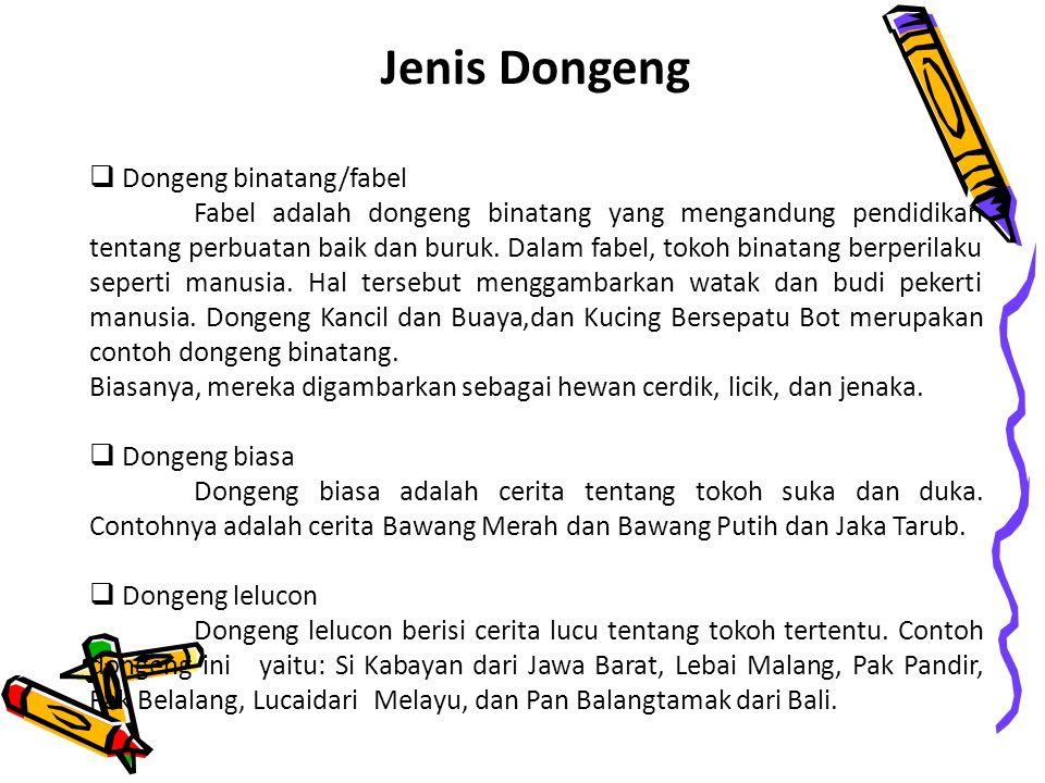 Jenis Dongeng 1.