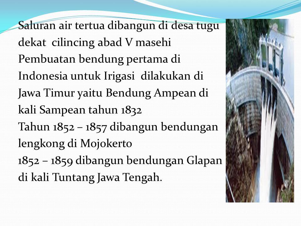 Sejarah Irigasi Jaman Hindu - Sistem Subak di Bali - Sistem Tuo Banda di Sumatera Barat - Sistem Tudang Sipulung di Sulawesi Selatan - Dikembangkan Ja