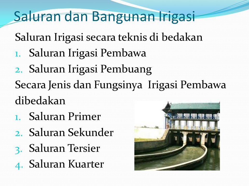 Menurut Abdullah Angoedi Irigasi : Menyalurkan air melalui saluran – saluran pembawa ke tanah pertanian dan setelah air tersebut diambil manfaat sebes