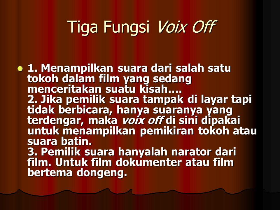 Tiga Fungsi Voix Off 1.