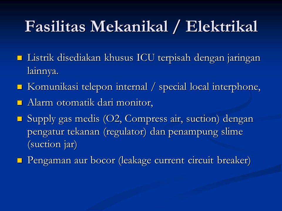 Listrik disediakan khusus ICU terpisah dengan jaringan lainnya. Listrik disediakan khusus ICU terpisah dengan jaringan lainnya. Komunikasi telepon int