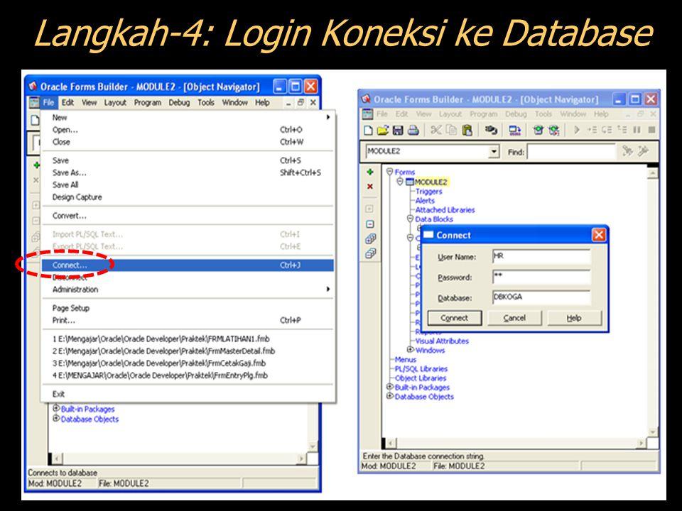Langkah-4: Login Koneksi ke Database