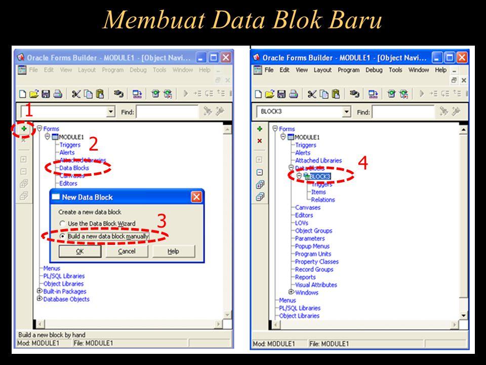Membuat Data Blok Baru 1 2 3 4