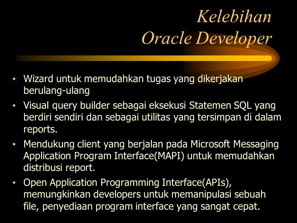 Wizard untuk memudahkan tugas yang dikerjakan berulang-ulang Visual query builder sebagai eksekusi Statemen SQL yang berdiri sendiri dan sebagai utili