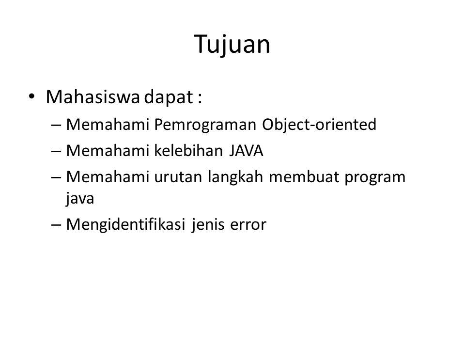Sub Topik Perbedaan Bahasa Tingkat Rendah dan Tingkat Tinggi Perbedaan Object-oriented dan Prosedural Sejarah singkat Java Kelebihan Java Java Development Process Fase Pembuatan Program Java IDE Jenis Error Excercices