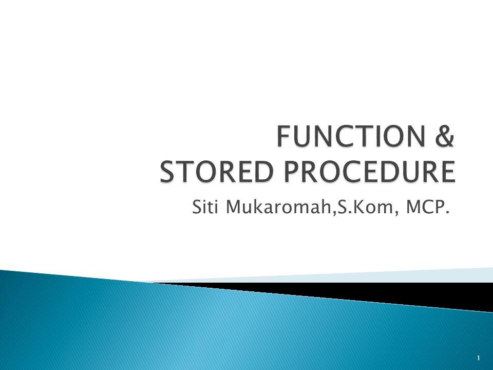 Siti Mukaromah,S.Kom, MCP. 1