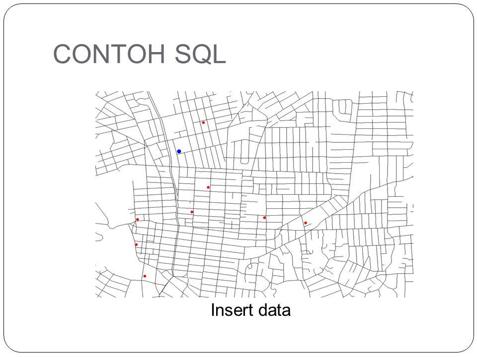CONTOH SQL Insert data