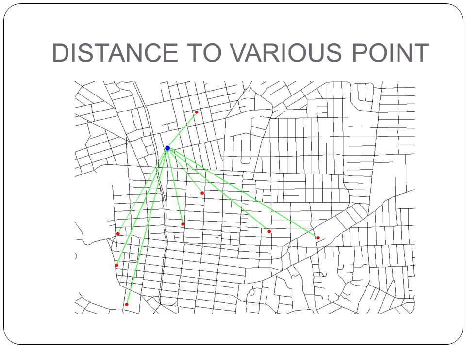 DISTANCE TO VARIOUS POINT