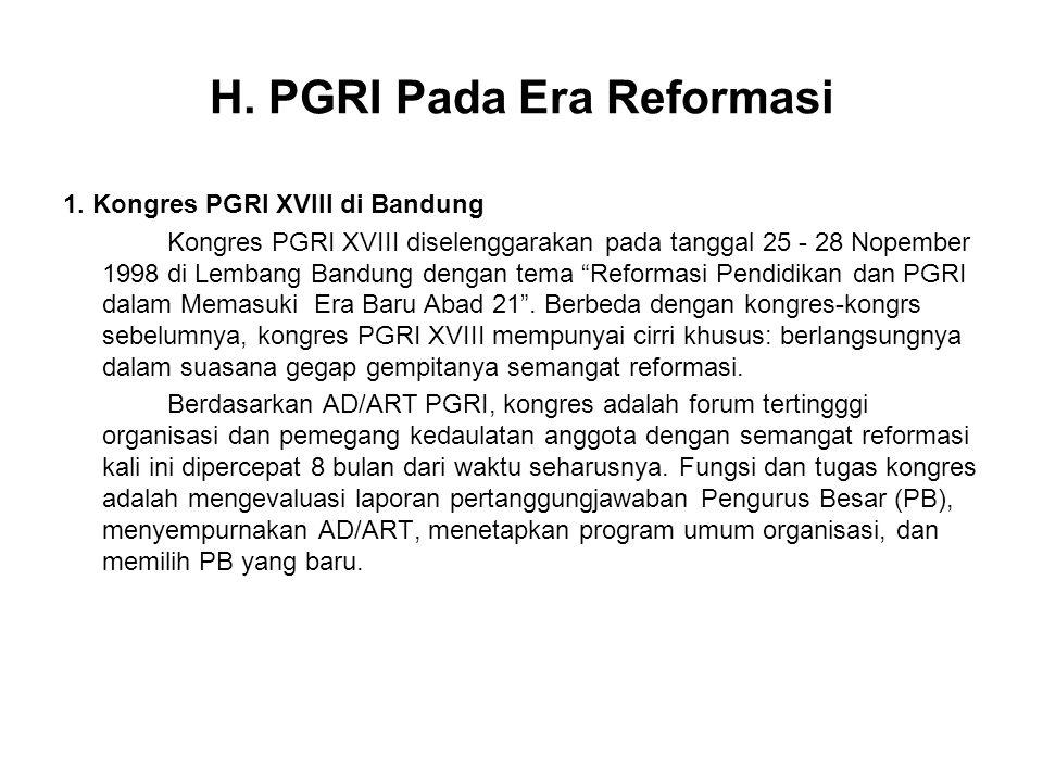H.PGRI Pada Era Reformasi 1.
