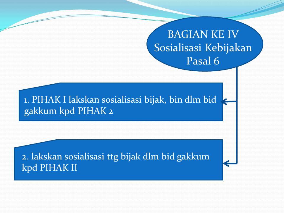 BAGIAN KE IV Sosialisasi Kebijakan Pasal 6 1.