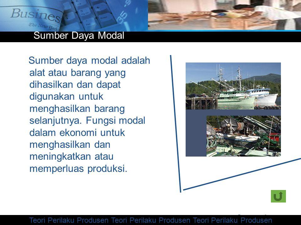 www.themegallery.com Company Logo Sumber daya modal adalah alat atau barang yang dihasilkan dan dapat digunakan untuk menghasilkan barang selanjutnya.