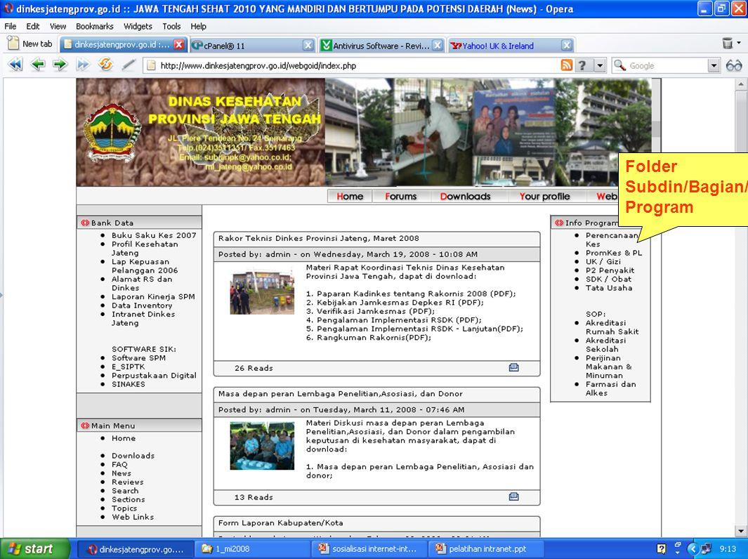 Folder Subdin/Bagian/ Program