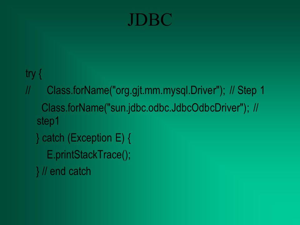 Tambahan con = DriverManager.getConnection( jdbc:mysql://localhost:3306/pasiendreritta , r oot , ); stmt = con.createStatement(); stmt.executeUpdate( INSERT INTO catatanpasien VALUES( + navn[0] + , + navn[1] + , + navn[2] + , + navn[3] + , + navn[4] + , + navn[5] + ); );