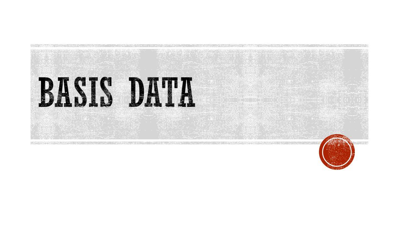 Basis data adalah kumpulan fakta-fakta tentang suatu pokok bahasan tertentu Di dalam prolog ada 2 macam basis data yaitu  Basis Data Internal  Basis Data Eksternal
