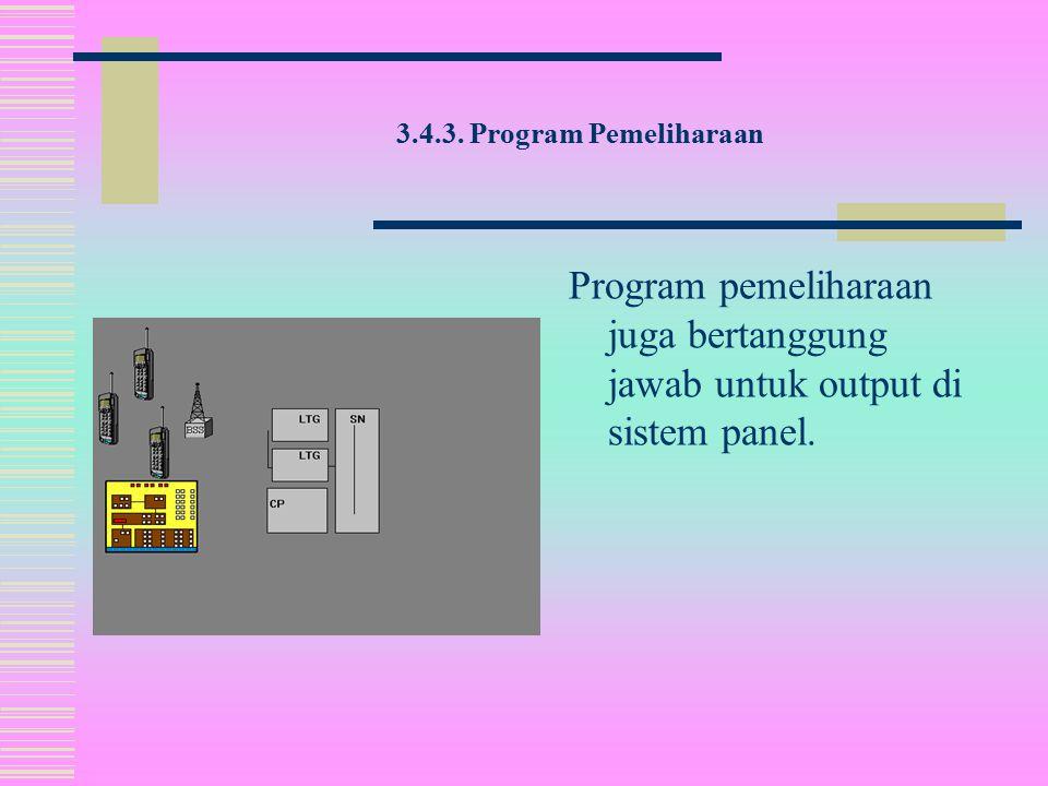 3.4.3. Program Pemeliharaan Konfigurasi dan pengisian program dapat juga dimulai dengan perintah MML tanpa program pemeliharaan.