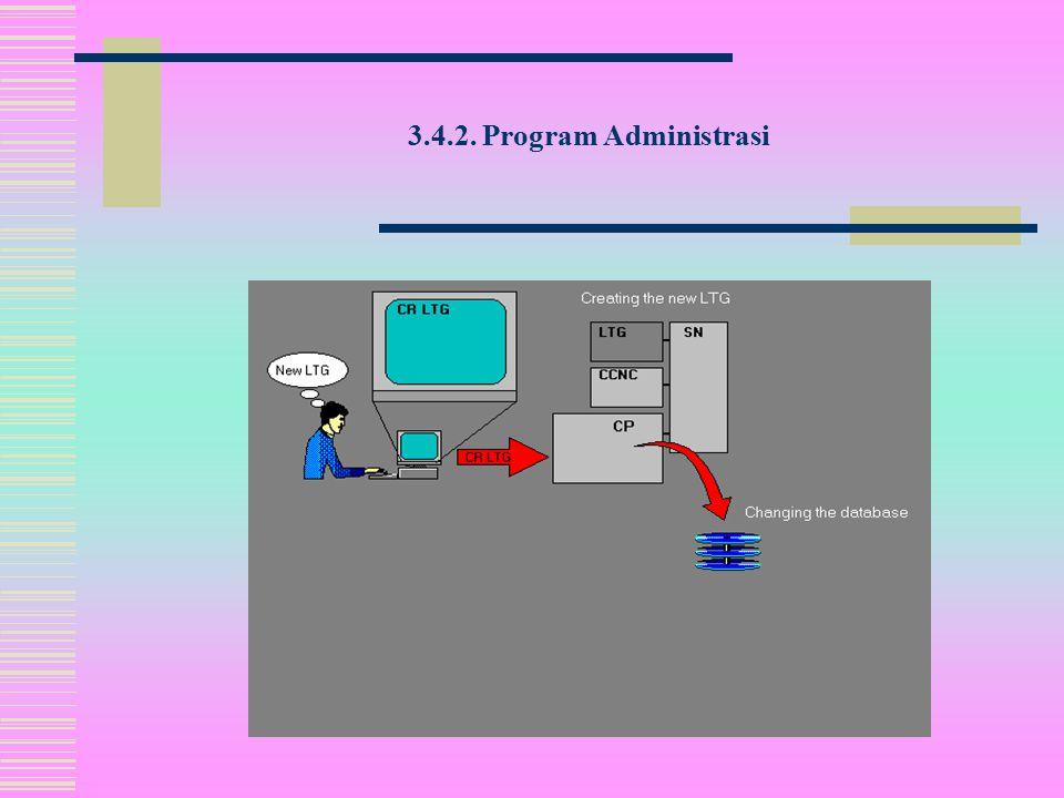 3.4.2. Program Administrasi  Program administrasi juga digunakan untuk menyiapkan data untuk output.