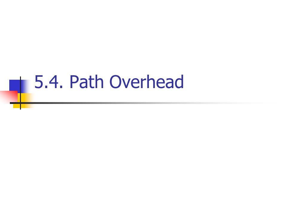 5.4. Path Overhead