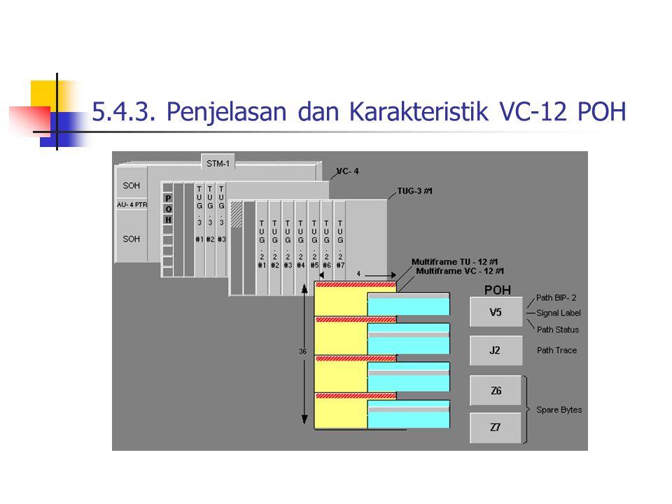 5.4.3. Penjelasan dan Karakteristik VC-12 POH