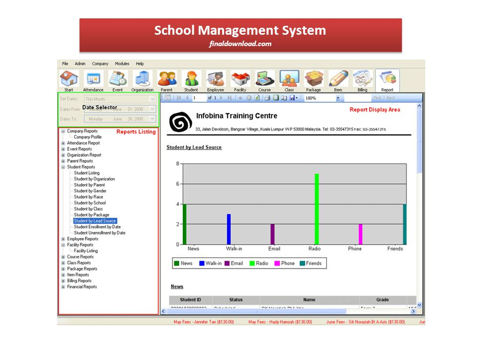 School Management System businessfreesoftware.net