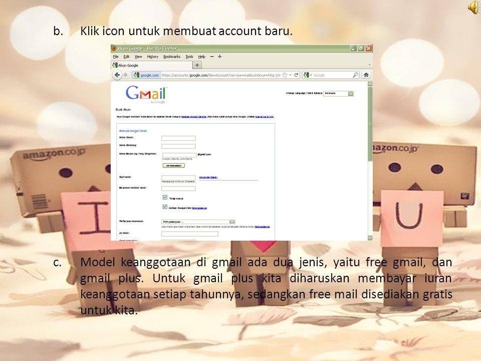 b.Klik icon untuk membuat account baru.