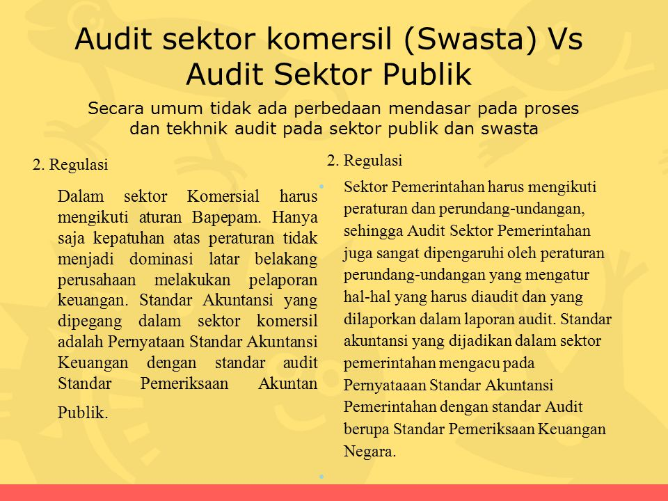 Audit sektor komersil (Swasta) Vs Audit Sektor Publik 2.