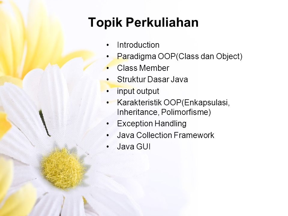 Why use JAVA? Open source Object oriented programming Multi-platform Multi-threading Stabil