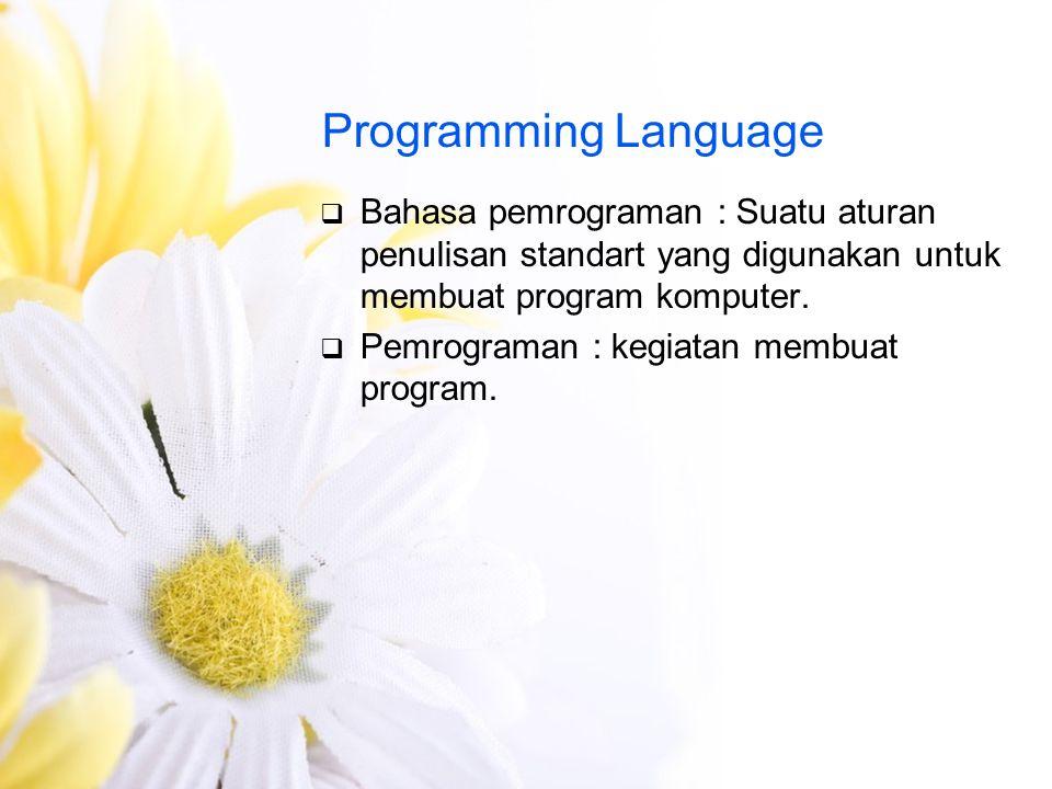 Level Bahasa Pemrograman  Tingkat rendah  Tingkat menengah  Tingkat tinggi