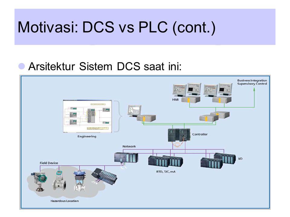 Motivasi: DCS vs PLC (cont.) Arsitektur Sistem PLC saat ini: