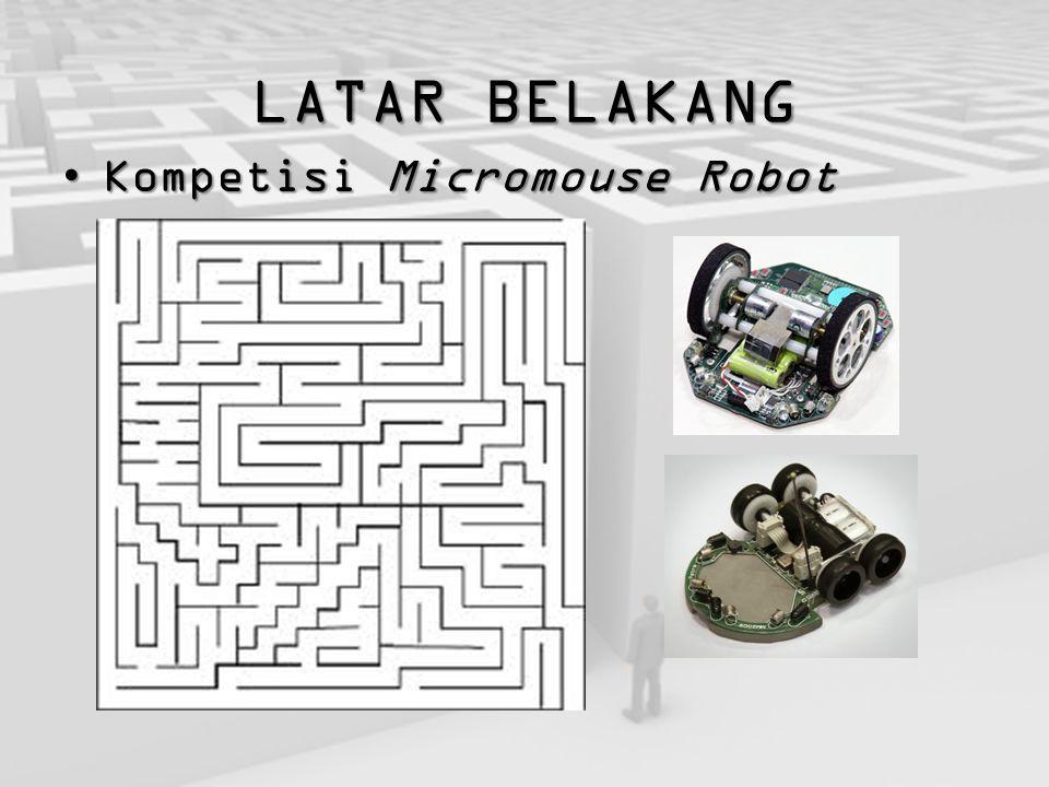 LATARBELAKANG LATAR BELAKANG Kompetisi Micromouse RobotKompetisi Micromouse Robot