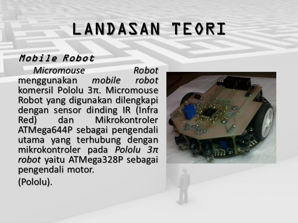 LANDASAN TEORI Mobile Robot Micromouse Robot menggunakan mobile robot komersil Pololu 3π. Micromouse Robot yang digunakan dilengkapi dengan sensor din