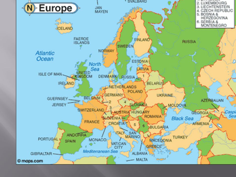  Sebagian besar negara-negara di benua Eropa merupakan negara Industri.