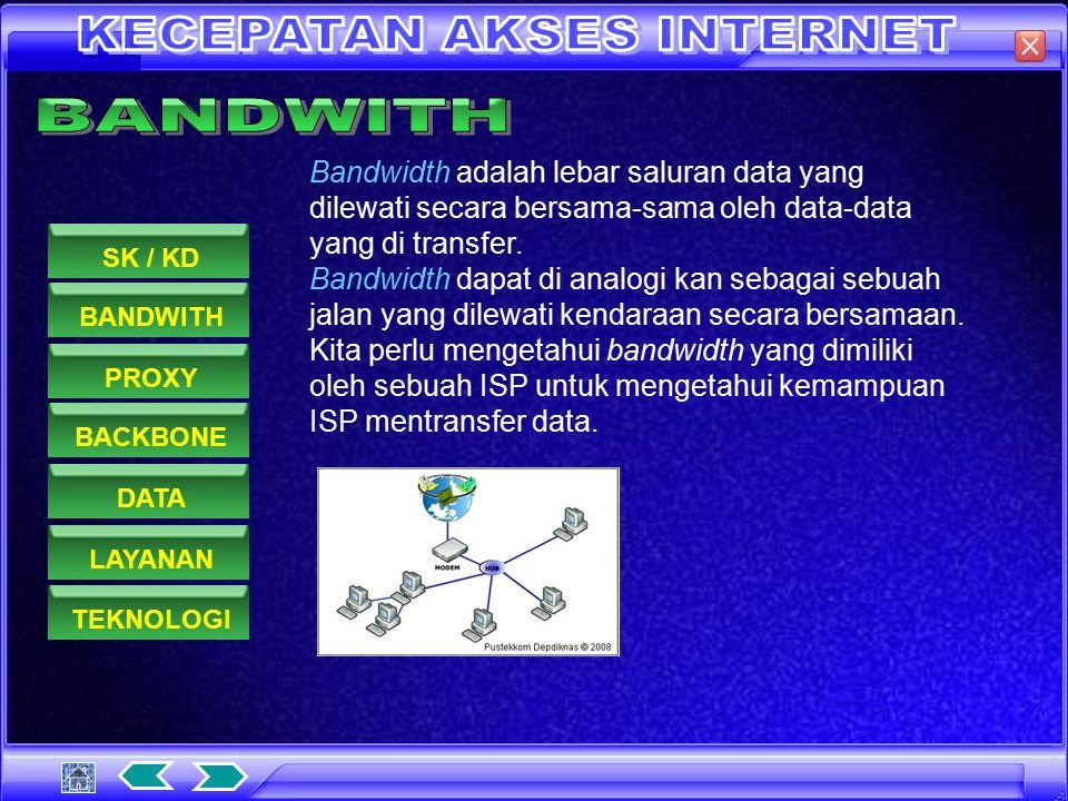 BANDWITHPROXYDATASK / KDBACKBONELAYANANTEKNOLOGI 1.Memahami dasar-dasar penggunaan internet / intranet 1.5. Melakukan berbagai cara untuk memperoleh s
