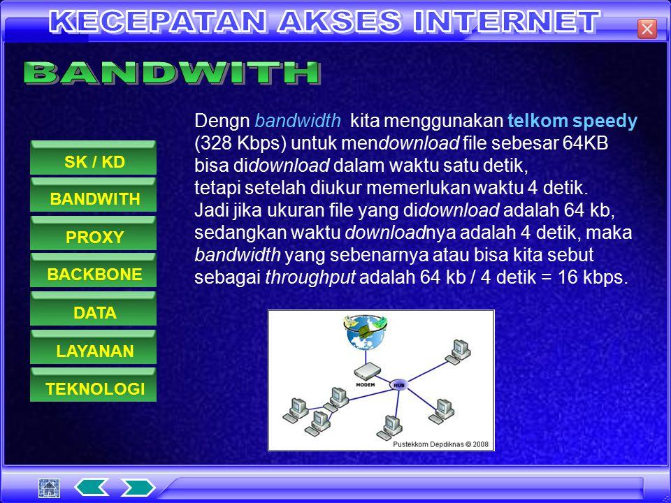 Berikut adalah rumus dari bandwidth : Keterangan : - bits : banyaknya data - s : secon (detik) BANDWITHPROXYDATASK / KDBACKBONELAYANANTEKNOLOGI