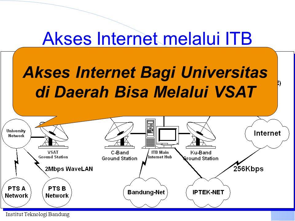 Institut Teknologi Bandung Akses Internet melalui ITB Akses Internet Bagi Universitas di Daerah Bisa Melalui VSAT