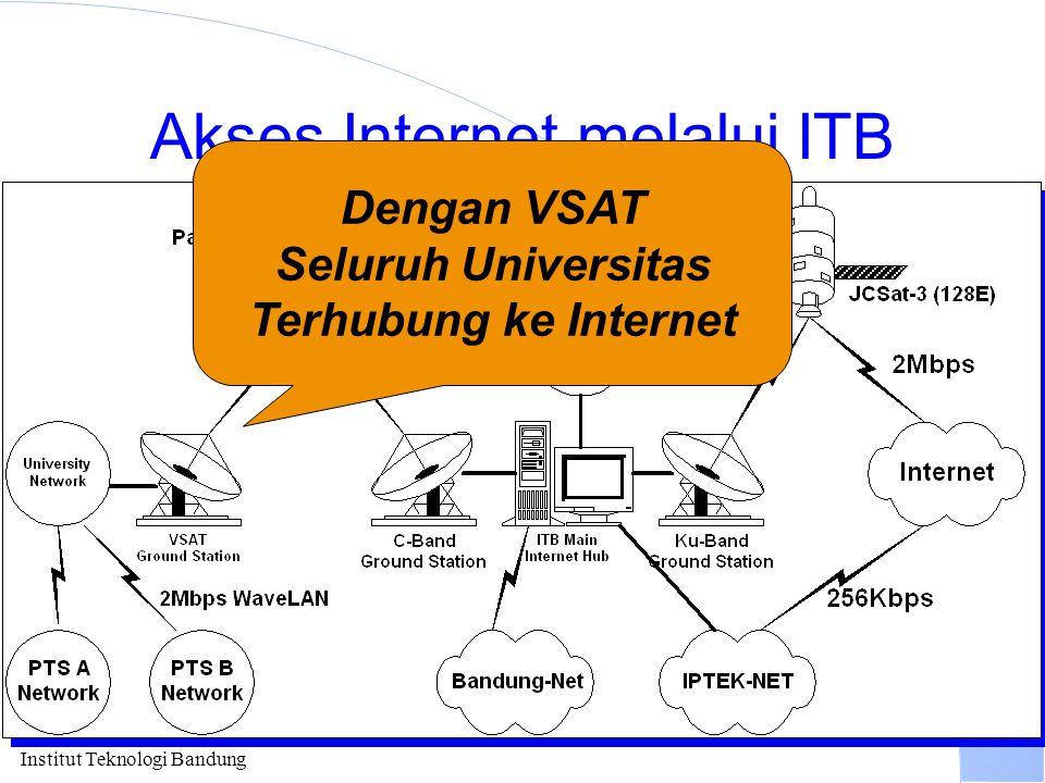 Institut Teknologi Bandung Akses Internet melalui ITB Dengan VSAT Seluruh Universitas Terhubung ke Internet