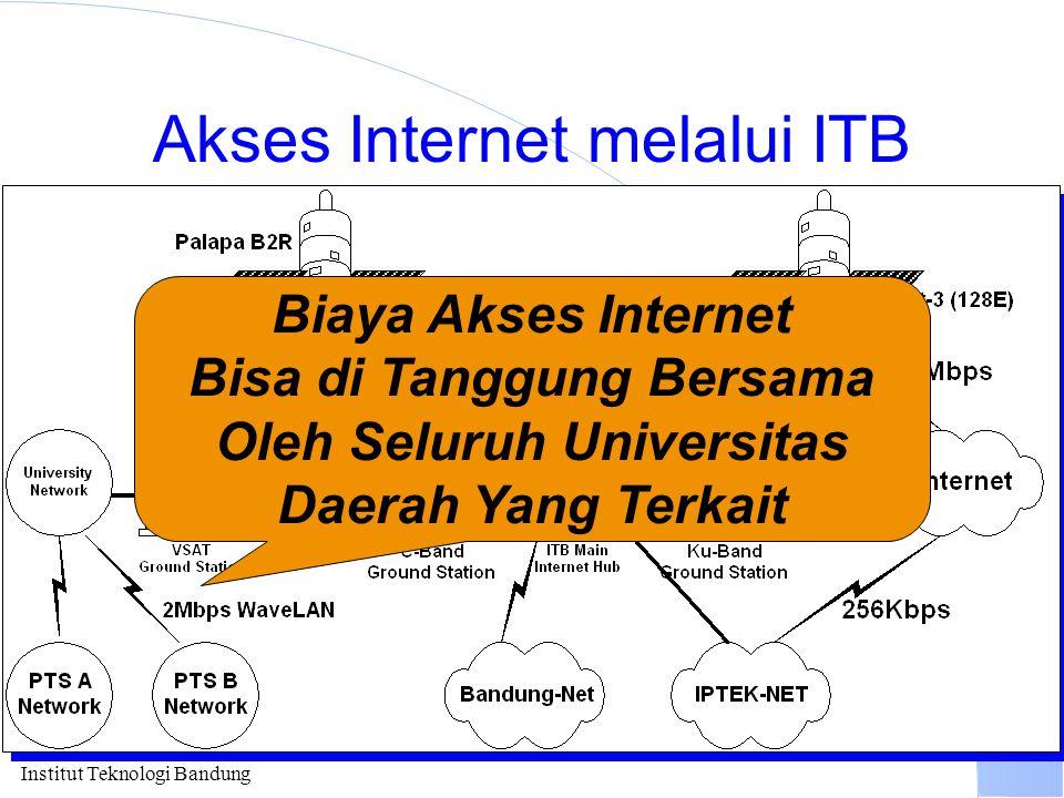 Institut Teknologi Bandung Akses Internet melalui ITB Biaya Akses Internet Bisa di Tanggung Bersama Oleh Seluruh Universitas Daerah Yang Terkait
