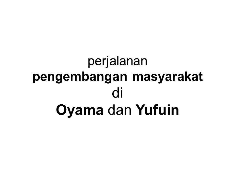 perjalanan pengembangan masyarakat di Oyama dan Yufuin