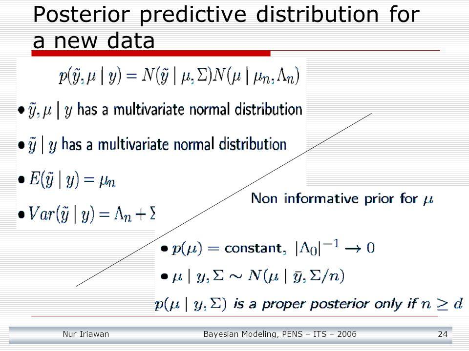 Nur Iriawan Bayesian Modeling, PENS – ITS – 2006 25