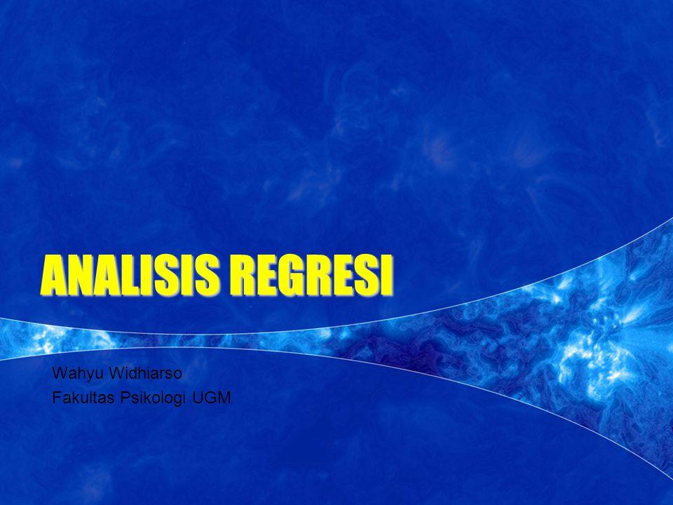 MENU SPSS 1.MASUK KE MENU   ANALYZE  REGRESSION  LINEAR 2.OPTION   Masukkan variabel di dalam kotak