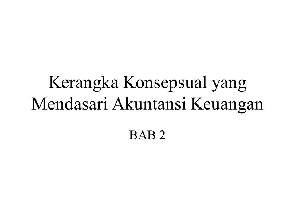 Kerangka Konsepsual yang Mendasari Akuntansi Keuangan BAB 2