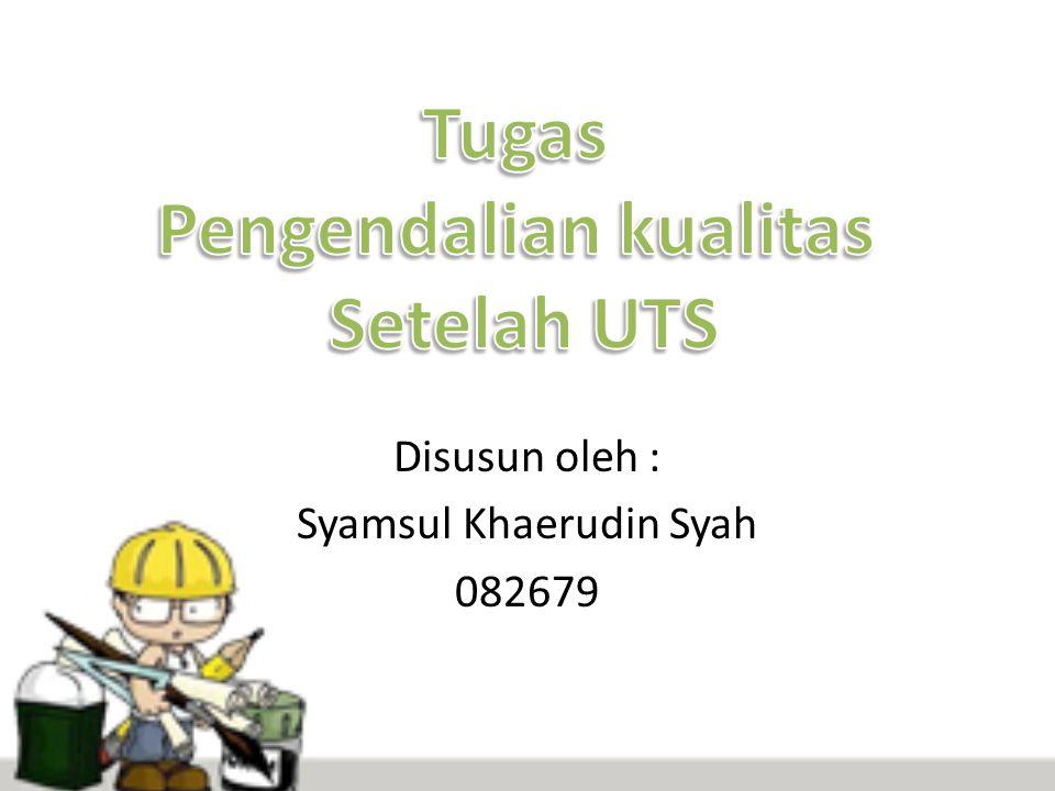 Disusun oleh : Syamsul Khaerudin Syah 082679