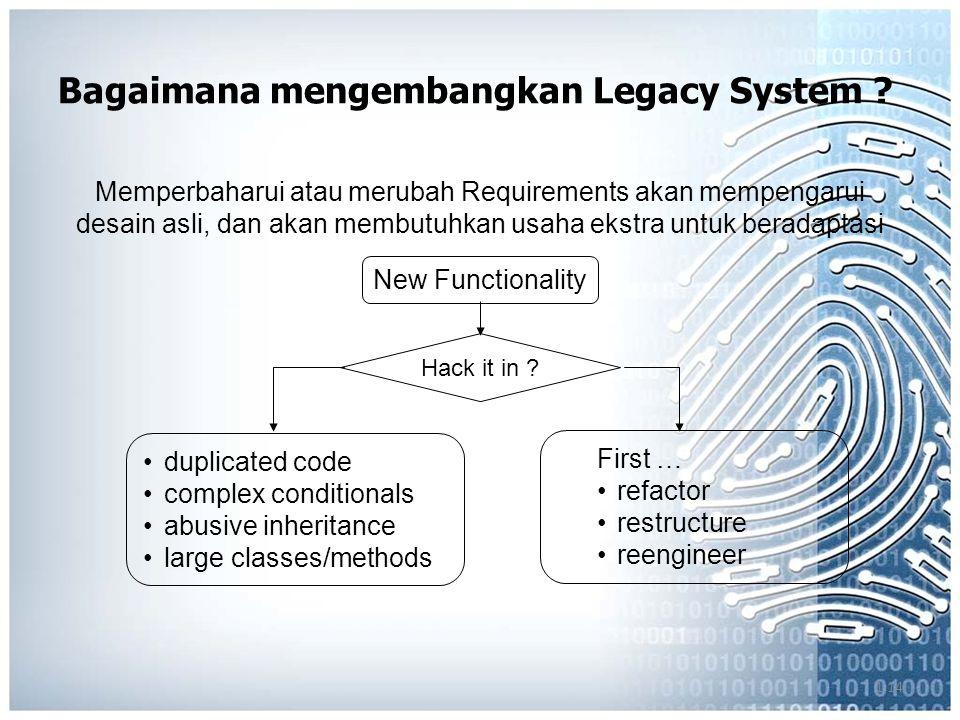 1.14 Bagaimana mengembangkan Legacy System .
