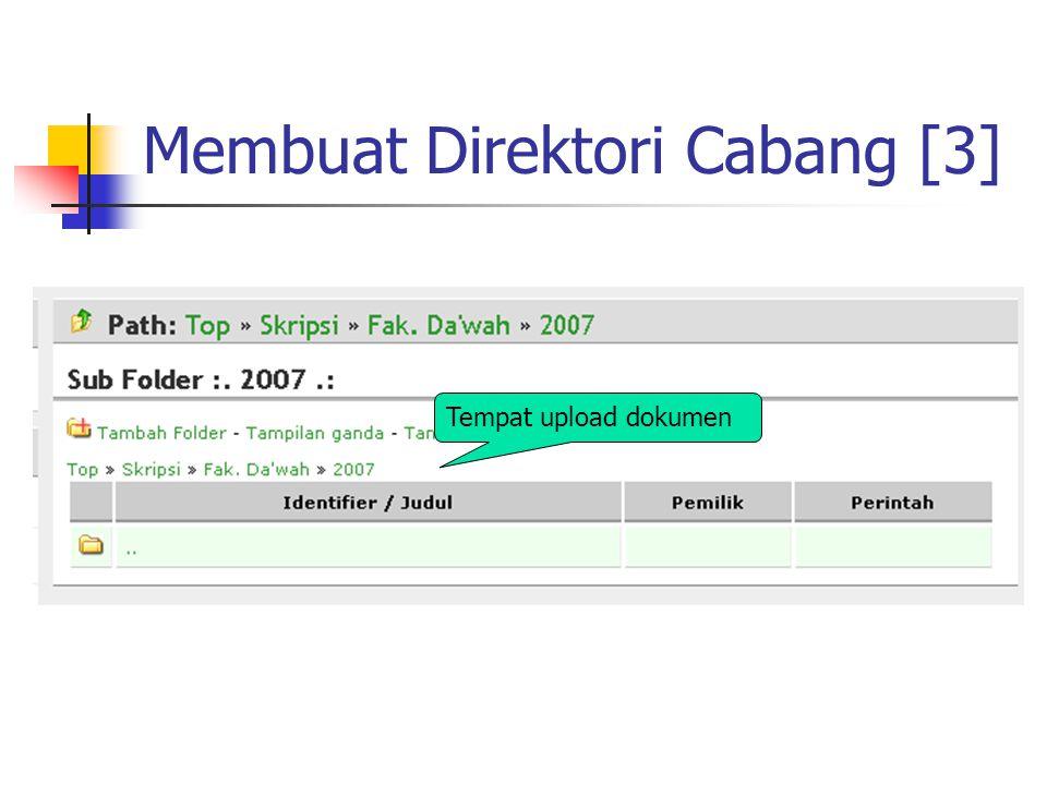 Membuat Direktori Cabang [3] Tempat upload dokumen