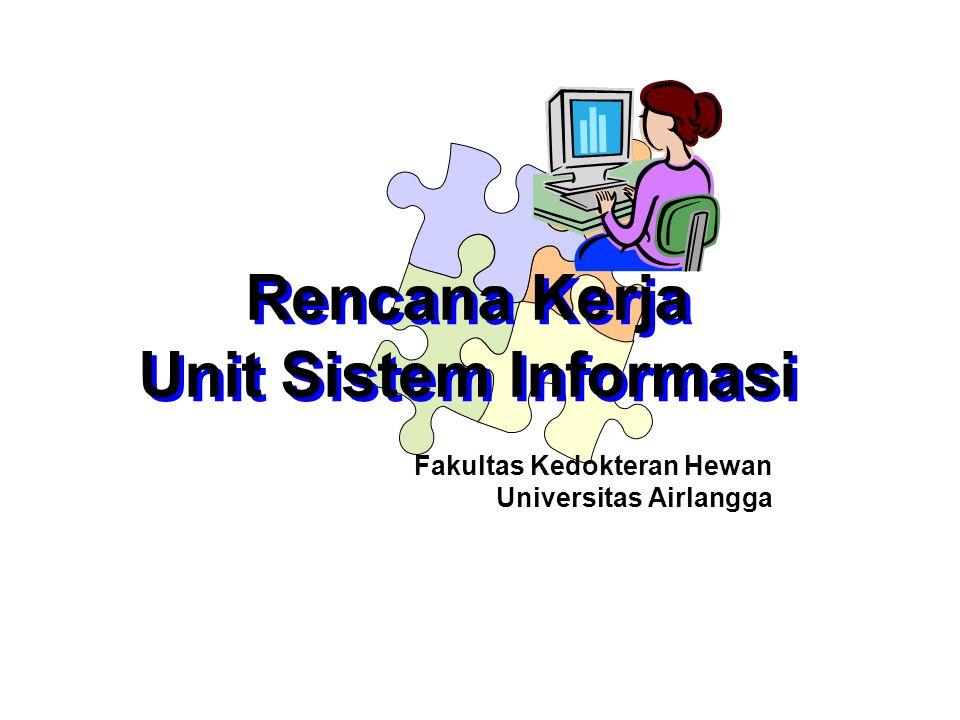 Fakultas Kedokteran Hewan Universitas Airlangga Rencana Kerja Unit Sistem Informasi