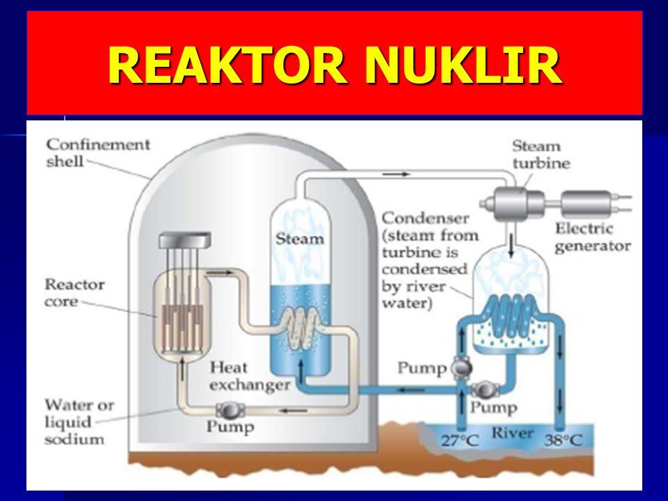 TUJUAN PEMBELAJARAN Setelah mengikuti pembelajaran bab ini diharapkan mahasiswa mampu : Mendeskripsikan reaktor nuklir Mendeskripsikan reaktor nuklir Mengklasifikasikan tipe-tipe reaktor nuklir Mengklasifikasikan tipe-tipe reaktor nuklir Menyebutkan komponen-komponen reaktor nuklir Menyebutkan komponen-komponen reaktor nuklir Mendeskripsikan PLTN dan prospeknya Mendeskripsikan PLTN dan prospeknya Menjelaskan metode penanganan limbah radioaktif Menjelaskan metode penanganan limbah radioaktif